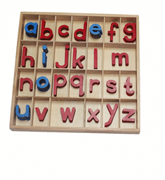Activité pédagogie montessori pour apprendre les lettres