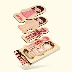 Puzzle du corps humain suivant la pédagogie montessori