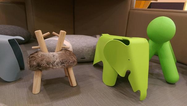 Idée pouf et tabouret classe Montessori
