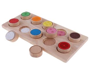 jeu de textures de la pédagoie montessori