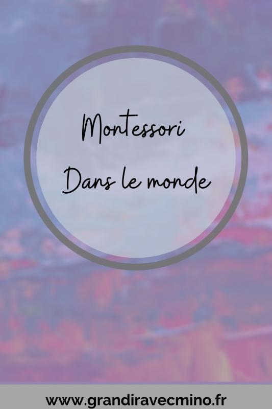 Montessori Dans Le Reste Du Monde Pinterest