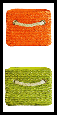 panier de rangement, rangement montessori, rangement par couleur, bac de couleur, rangement enfant