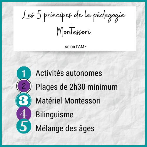 Les 5 Principes De La Pédagogie Montessori, Montessori principes; activités autonomes, plages de 2h30, matériel montessori, bilinguisme, mélange des ages
