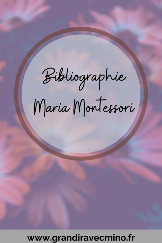 Livres écrits Maria Montessori Pinterest