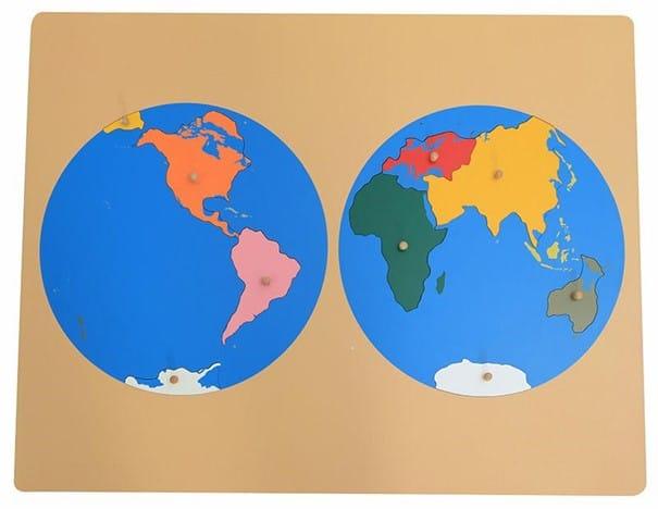 planisphère montessori, planisphère puzzle, puzzle montessori, puzzle du monde, puzzle des continents