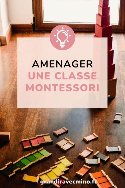 aménager une classe montessori