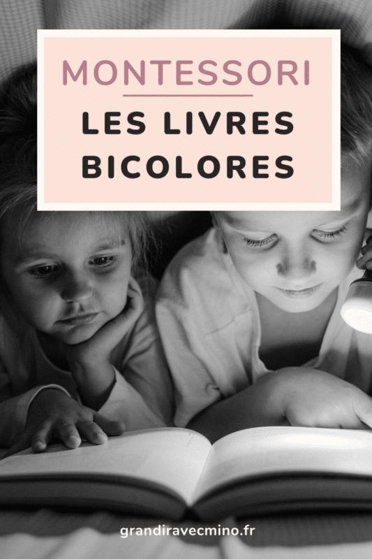 livres bicolores montessori