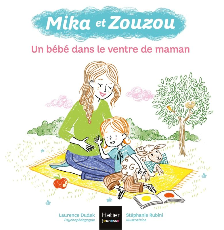 livre mika et zouzou, un bébé dans le ventre de maman, laurence dudek
