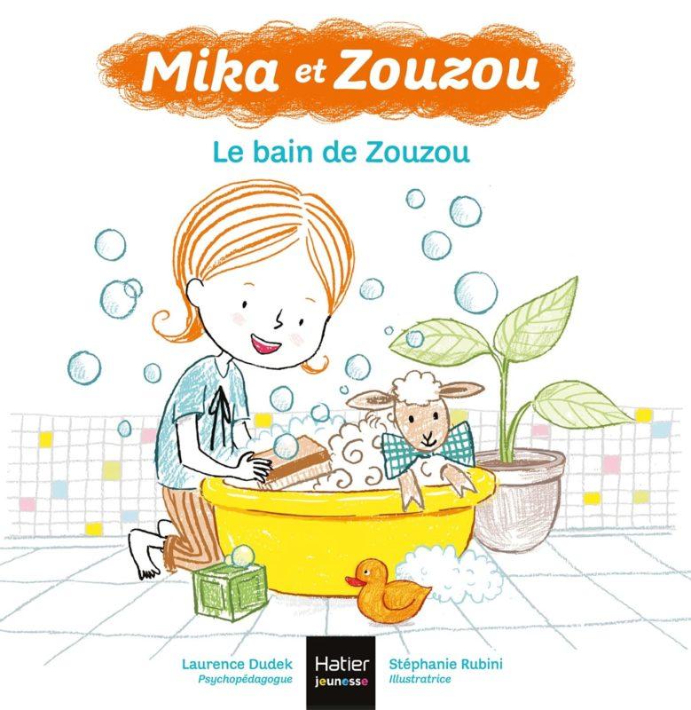 livre mika et zouzou, le bain de zouzou laurence dudek
