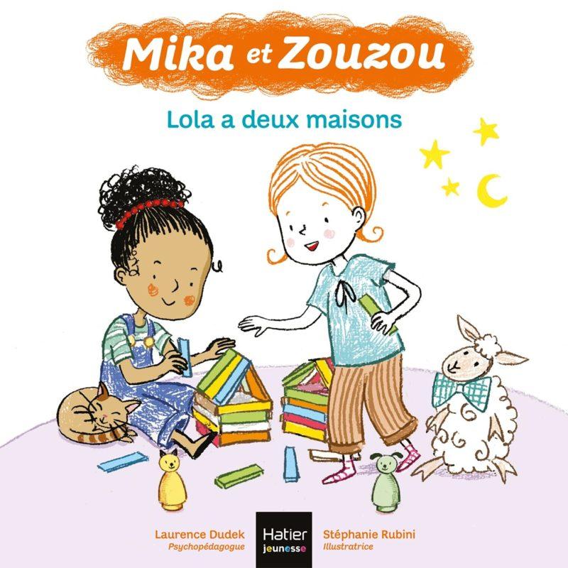 livre mika et zouzou, mika a 2 maisons laurence dudek