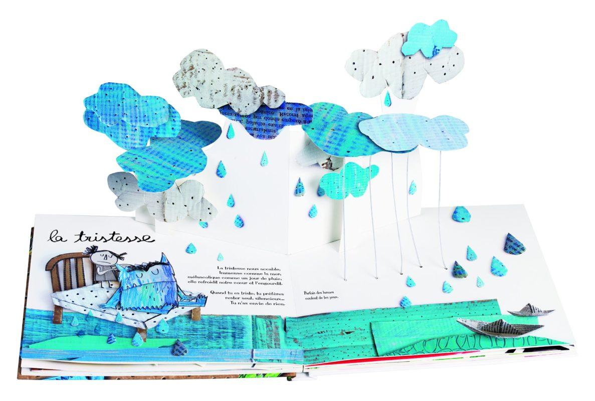 livre pop up la couleur des émotions tristesse