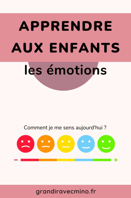 apprendre les émotions aux enfants