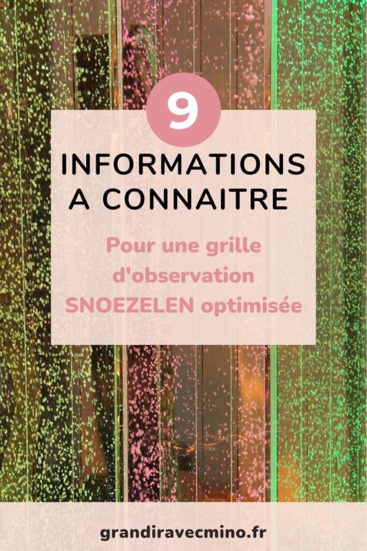 9 informations à connaitre pour une grille d'observation snoezelen